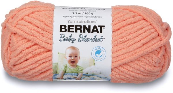 77b57e8cccc Bernat Baby Blanket Yarn - (6) Super Bulky Gauge - 3.5oz - Peach - Single  Ball Machine Wash   Dry