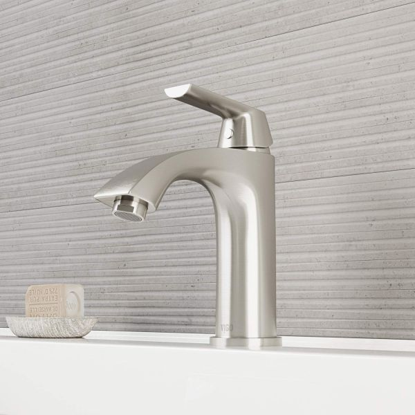 Vigo Vg01028bn Penela 8 Inch Brushed Nickel Bathroom Faucet Single
