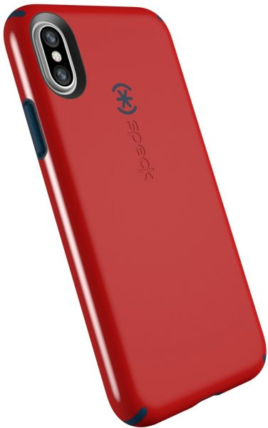 super popular 80775 455b4 Speck Products CandyShell Cell Phone Case for iPhone XS/iPhone X - Dark  Poppy Red/Deep Sea Blue
