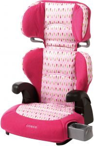 Cosco Pronto Booster Car Seat For Children Adjustable Headrest Integrated Cup Holders Teardrop