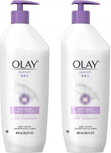 Olay Quench Plus Shimmer Body Lotion 202 Oz Pump Pack Of 2 Packaging May Vary