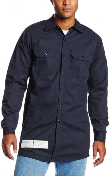 1b8b3f8c6e74 Bulwark Flame Resistant 7 oz Cotton Nylon Excel FR ComforTouch Long Work  Shirt with Sleeve Vents