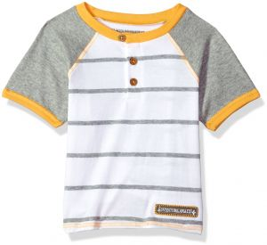 Burts Bees Baby Boys Little Kids Style Name T Short Sleeve Tee Under Shirt 100 Organic Cotton Cloud Raglan 7 Years