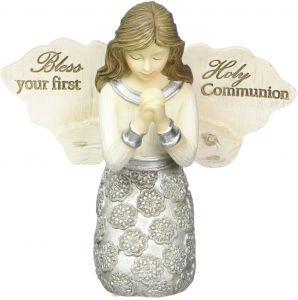 Pavilion - Bless Your First Holy Communion - Praying Girl Angel Figurine 3.5 Inches