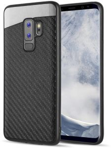 a9ee235f2ed9 Samsung Galaxy S9 Plus Carbon Metallic Fusion Candy Case TPU With Carbon  Fiber Finish - Black