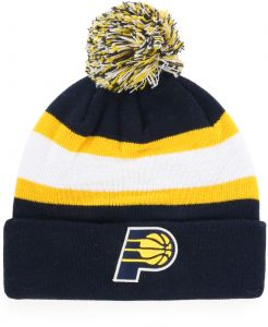 93aae55b9c3 OTS NBA Indiana Pacers Male Rush Down Cuff Knit Cap with Pom
