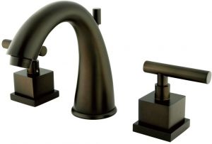 5-1//2 Polished Brass Nuvo ES2962CQL Elements of Design Rio 8 to 16 2-Handle Widespread Lavatory Faucet with Brass Pop-Up