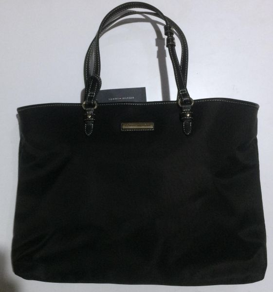 8a39dbda2 Tommy Hilfiger Black Nylon large Tote Handbag for women with extra pouch |  Souq - Egypt