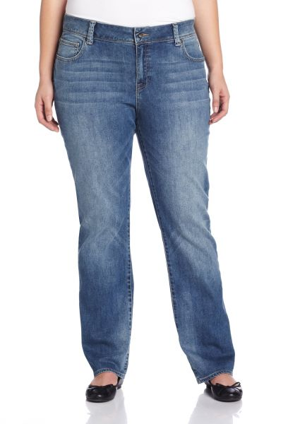 bfe37e3356bb5 Lucky Brand Women s Plus Size Mid Rise Georgia Straight Jean in Sandy Cross