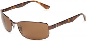9f5de5bc21 Ray-Ban Men RB3478 014 57 Polarized Sunglasses Brown Frame Crystal Brown  Lens