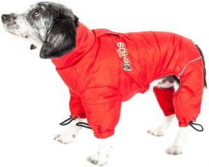 05f7372f2 DogHelios Thunder-Crackle  Full-Body Bodied Waded-Plush Adjustable and 3M  Reflective Pet Dog Jacket Coat w Blackshark Technology