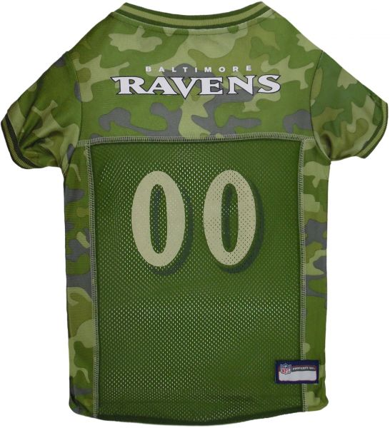 681f22a21 Pets First NFL BALTIMORE RAVENS CAMOUFLAGE DOG JERSEY