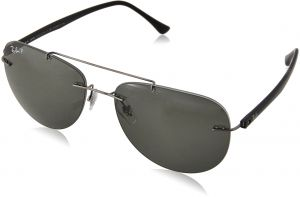 1bde7234515 Ray-Ban Men s Titanium Man Polarized Round Sunglasses