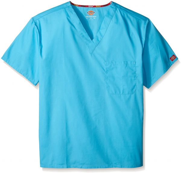 e5b40370f76 Dickies Men's Big and Tall EDS Signature Unisex V-Neck Scrub Top,  Turquoise, XXX-Large | Souq - UAE