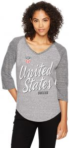 World Cup Soccer United States Adult Women World Cup Soccer Women s Ots  Triblend Raglan Distressed Tee 59a703e40f0