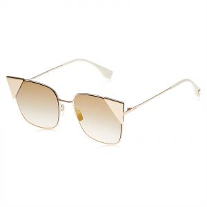 9261acf95c17d Fendi Cat Eye Sunglasses for Women - Gold lens