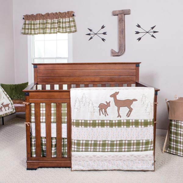 Trend Lab Northwoods 6 Piece Crib Bedding Set Brown