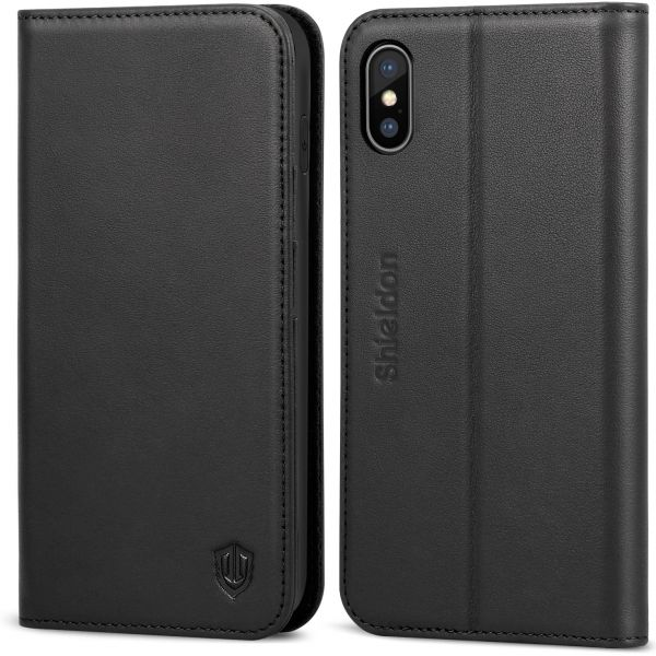 new york 626fb ff611 iPhone XS Max Case,iPhone XS Max leather case, SHIELDON Genuine ...