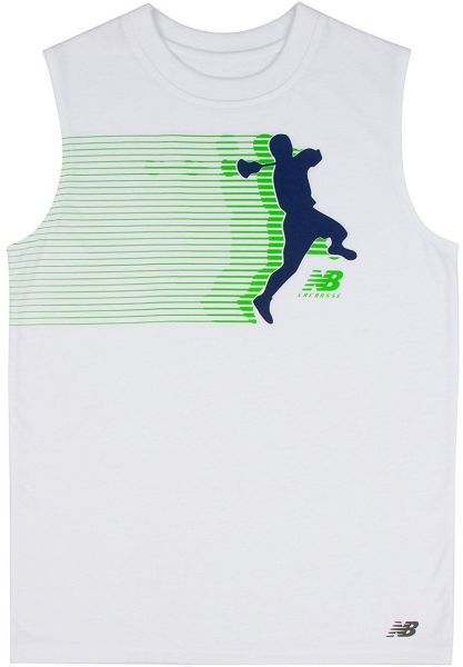 86cd0e969e1d4b New Balance Boys Sleeveless Graphic Tank white