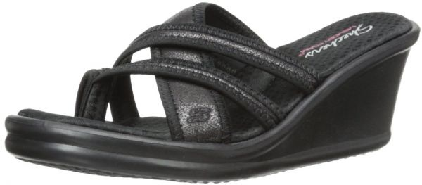3a369ffcaab7 Skechers Cali Women s Rumblers-Young At Heart Wedge Sandal