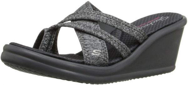 Skechers Cali Women s Rumblers-Young at Heart Wedge Sandal f8d04c6d0