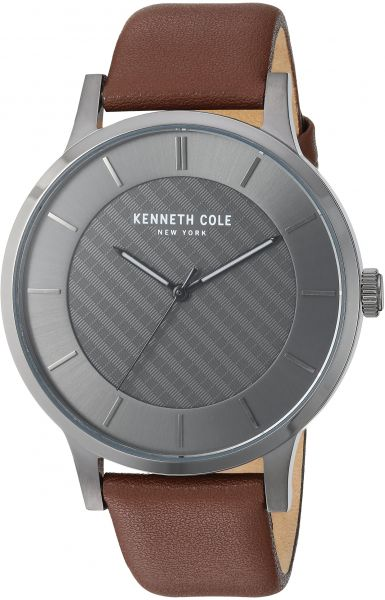 7b856715a59 Kenneth Cole New York Men s Quartz Stainless Steel and Leather Casual Watch