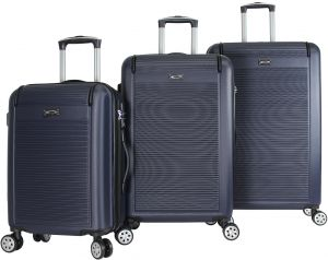 c52f20b6398b Kemyer 3-Piece Hardside Tsa Lock Lightweight Spinner Rolling Luggage Set