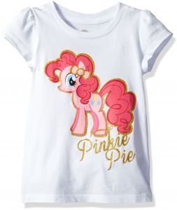 741df6062 My Little Pony Little Girls' Toddler Pinkie Pie Short-Sleeved Puff T-Shirt,  White, 5T