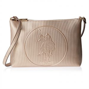 c96201c96555 U.S. Polo Assn. Leather Clutch Bag for Women - Rose Gold