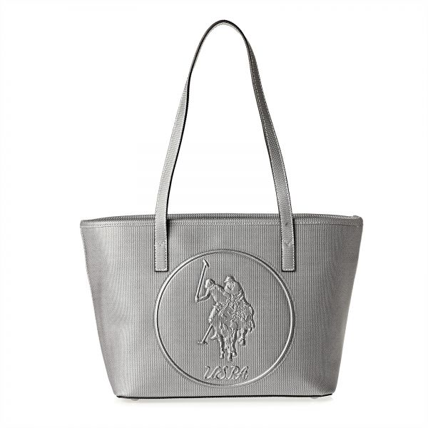 2501285d9330 U.S. Polo Assn. Leather Tote Bag for Women - Dark Grey