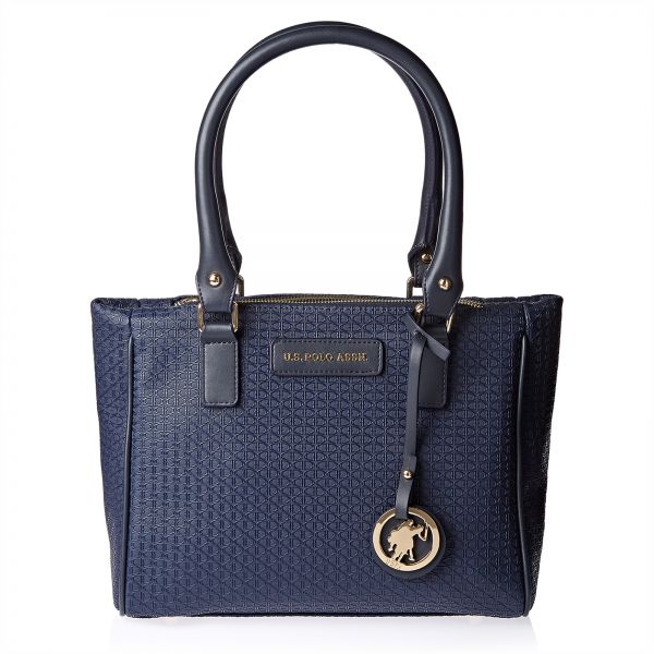 f494c8f304 U.S. Polo Assn. Leather Tote Bag for Women - Navy