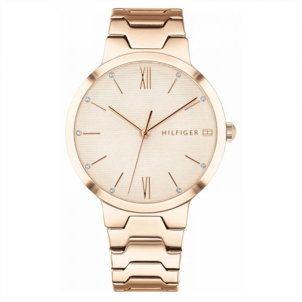 0096a68be Tommy Hilfiger avery Women's Pink Dial Stainless Steel Band Watch - 1781959