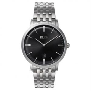 9b5fc2517 Hugo Boss Tradition Men's Black Dial Stainless Steel Band Watch - 1513536