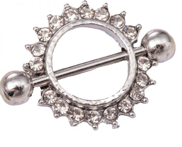 Fashion Flash Drill Hypoallergenic Round Navel Ring Body Piercing Jewelry