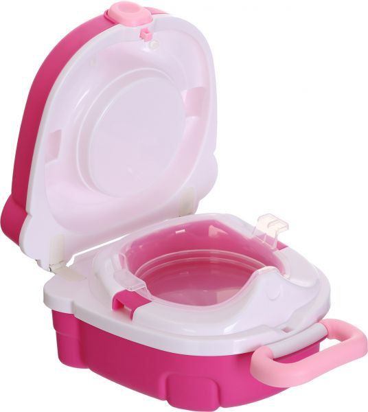 My Carry Potty Pink Travel Potty Award Winning Portable Toddler Toilet Seat For Kids To Take Everywhere Price In Egypt Souq Egypt Kanbkam