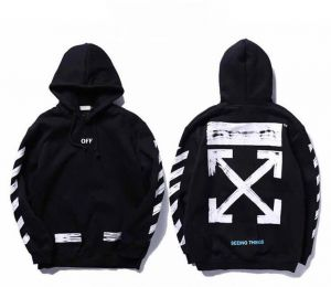 Off-white Classic Arrow Black Hoodie Unisex Hooded Sweatshirt For Men And  Women 399587d608