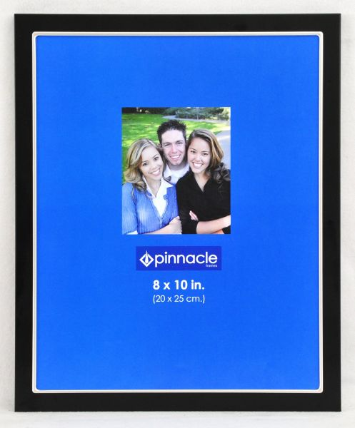 Pinnacle 8x10 Double Black And Silver Metal Tapletop Picture Frame