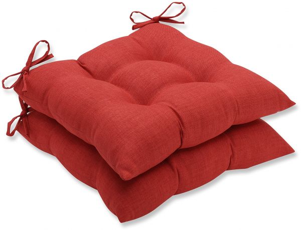 Pillow Perfect Outdoor Indoor Rave Flame Wrought Iron Seat Cushion