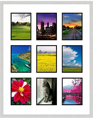 Frames By Mail Nine Square Opening Collage Frame For 35 X 5 Photo