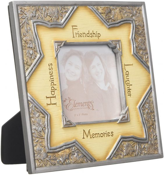 Elements Friendship Picture Frame By Pavilion 6 12 Inch Holds 3