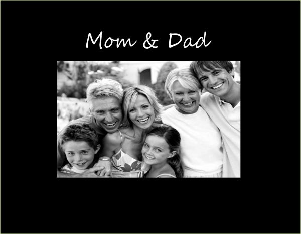 Infusion Gifts C9446sb Mom Dad Small Engraved Photo Frame Black