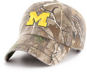 super popular 168e2 3c04d  47 NCAA Michigan Wolverines Adult Clean Up Realtree Adjustable Hat, One  Size, Realtree Camo