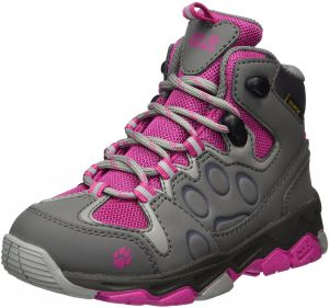 8dc2af3b4c Jack Wolfskin Unisex-Kids MTN Attack 2 Texapore Mid K Hiking Boot, Fuchsia,  4.5 M US Big Kid