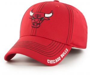 2ced3b2df83e9 OTS NBA Chicago Bulls Adult Start Line Center Stretch Fit Hat