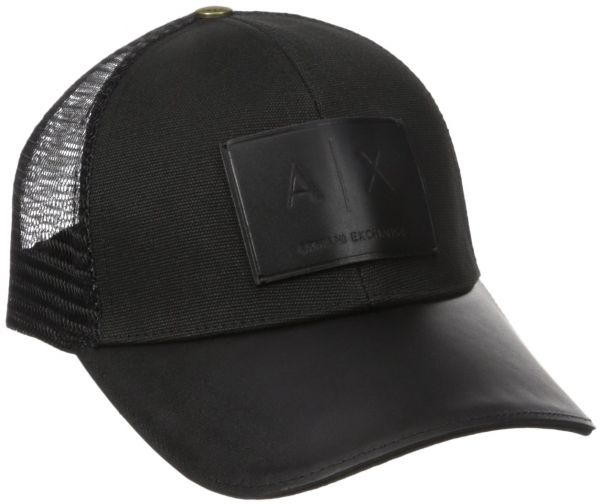 a1639c42517 Armani Exchange Men s Logo Patch Mesh Hat
