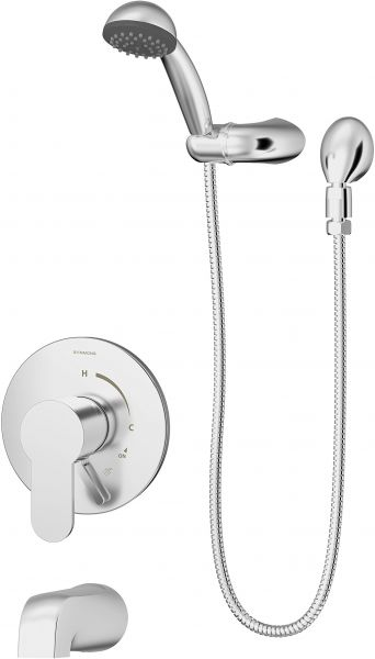 Valve Not Included Chrome Symmons 6704-1.5-TRM Identity 1-Handle Tub and Shower Faucet Trim Kit