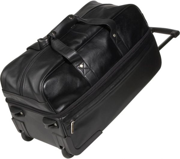 Royce Leather Luxury Rolling Trolley Luggage Handmade in Leather ... c6a8bbfe53c44