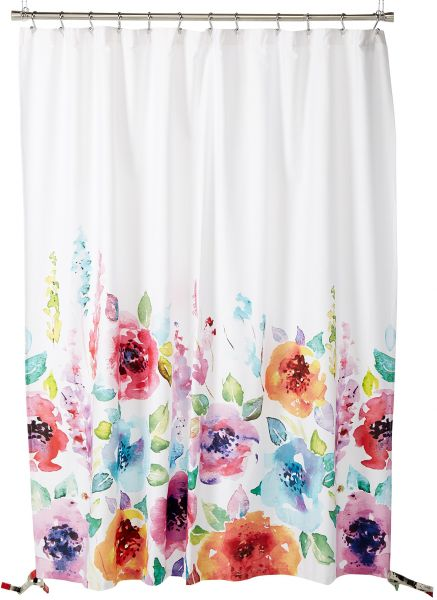 Caro Home CARYS11300 Carys Multi Colored Flower Printed Shower Curtain