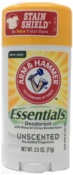 286900678 Arm and Hammer Essentials Natural Deodorant, Unscented, 4 Count ...