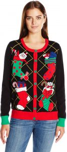 4bd2c8f99e7 Ugly Christmas Sweater Women s Xmas Stockings Cardigan